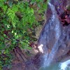 Cliff diving in Cabrera